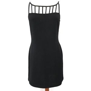 St. John Evening by Marie Claire Caged Black Dress